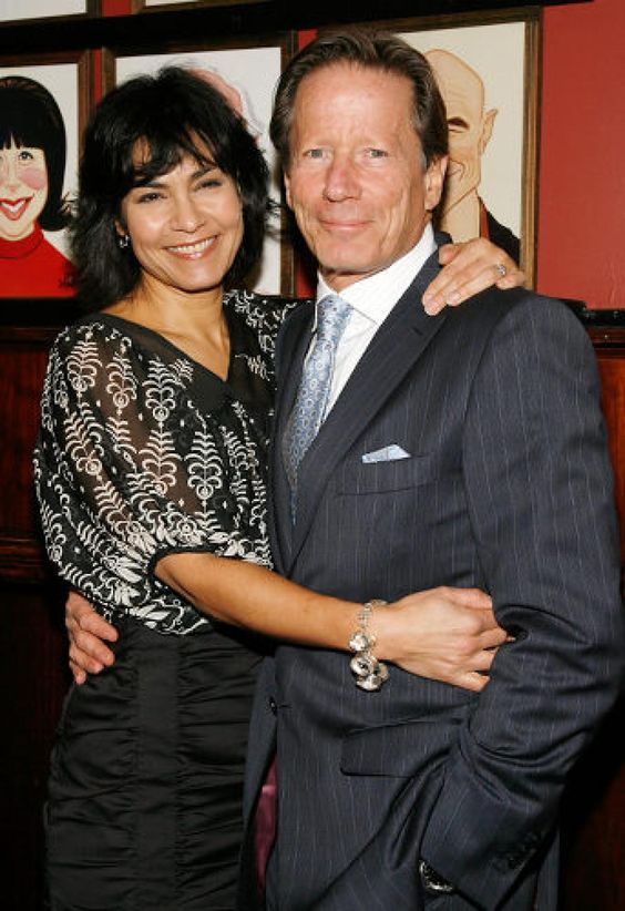 Rachel Ticotin with her second husband Peter Strauss