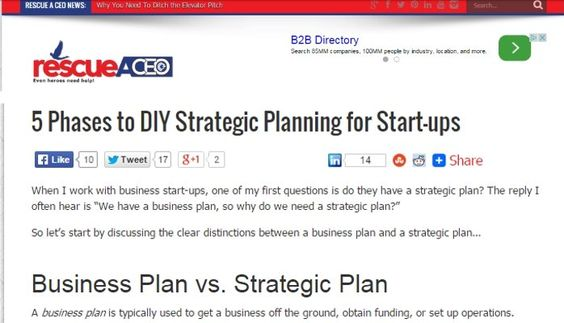 When I work with business start-ups, one of my first questions is - strategic plan templates