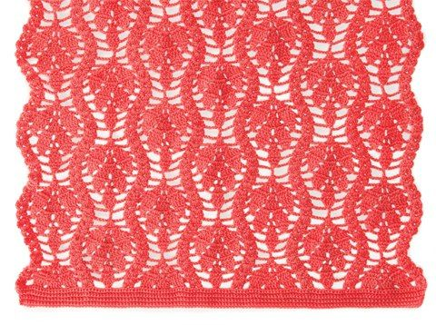 Crochet leaves scarf with chart | Crochet - Stitches & Patterns ...