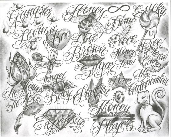 Tattoo Flash Line Drawing Converter : Gangster tattoo drawings trelatatoo flash