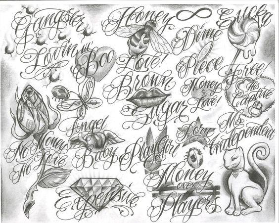 Tattoo Flash Line Drawing Converter : Gangster tattoo drawings trelatatoo flash