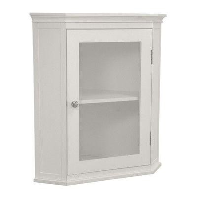 "Beachcrest Home Sumter 21.25"" x 23.75"" Corner Wall Mounted Cabinet & Reviews   Wayfair"