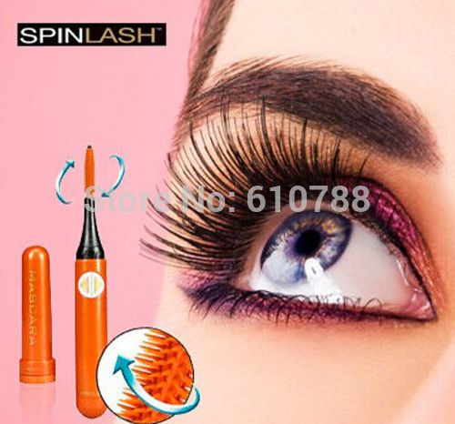 Spinlash elétrica Spin Lash Spinning 360 Rotating curvex rolo Mascara Wand escova / como visto na TV alishoppbrasil