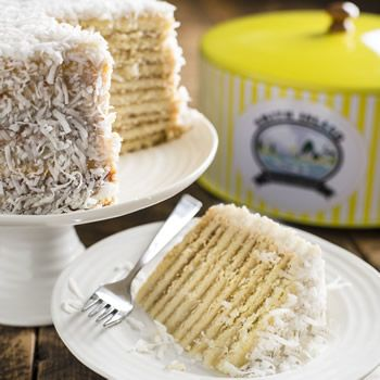 The. World's Best Cake. Cooked Coconut Smith Island Cake with 10+ layers from the Smith Island Baking Company, Maryland Eastern Shore