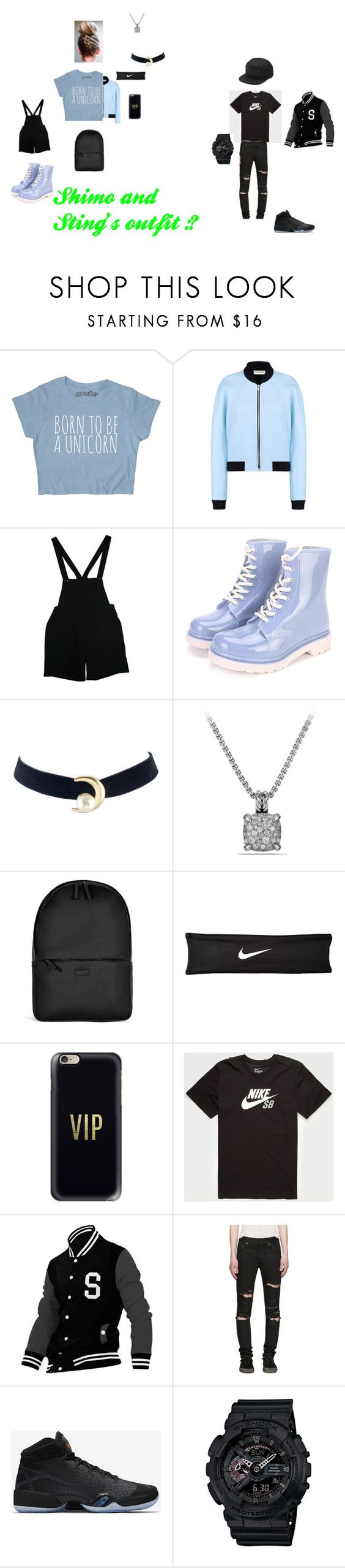 """Sting"" by shiyanemcnab on Polyvore featuring Balenciaga, American Apparel, David Yurman, Rains, NIKE, Casetify, Allegra K, Yves Saint Laurent, G-Shock and Vans"