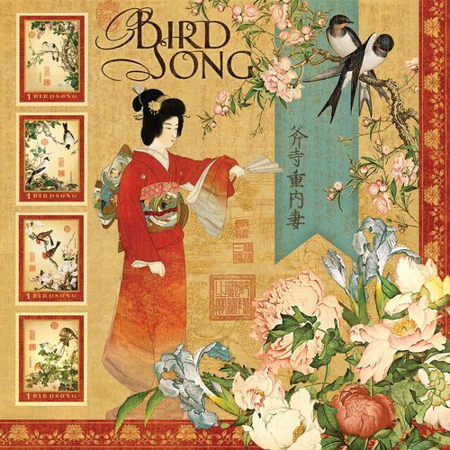 """The front of """"Bird Song"""" page, from our new collection Bird Song! In stores early September! #graphic45 #CHA #sneakpeeks"""