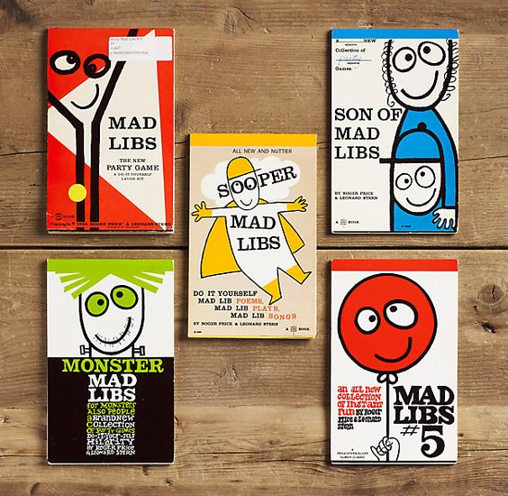 Vintage Mad Libs (Set of 5)