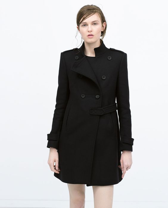 DOUBLE-BREASTED MILITARY-STYLE COAT-View all-Coats-WOMAN   ZARA United States
