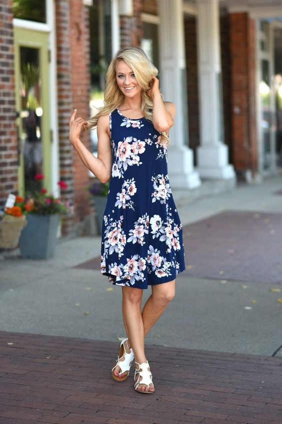 A cute mid length dress to rock this summer! True to size. Material:95% Rayon 5% Spandex Product Sizing Chart Size...