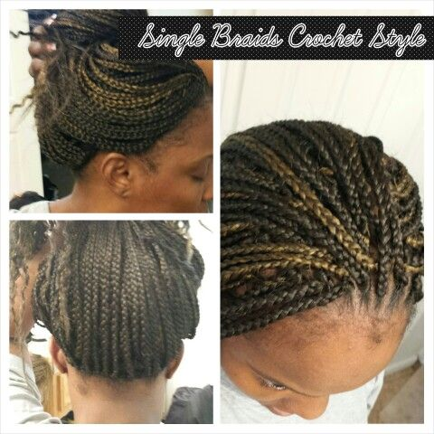 Single braids, Crochet style and Braids on Pinterest