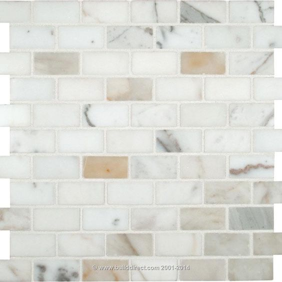 BuildDirect Natural Stone Mosaic Mosaic Tile Carrara