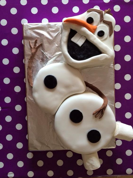 My version of Olaf cake