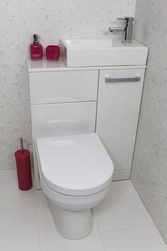 Solução para um mini lavabo com menos de 1m quadrado: