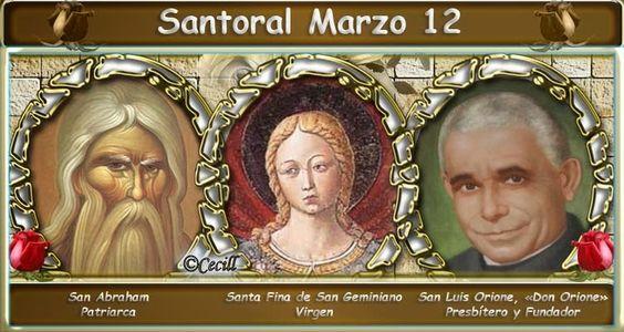 Vidas Santas: Santoral Marzo 12