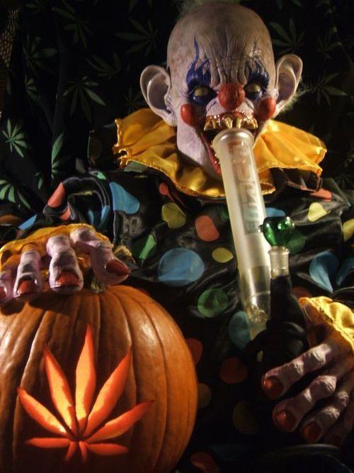 bong evil smoke halloween weed