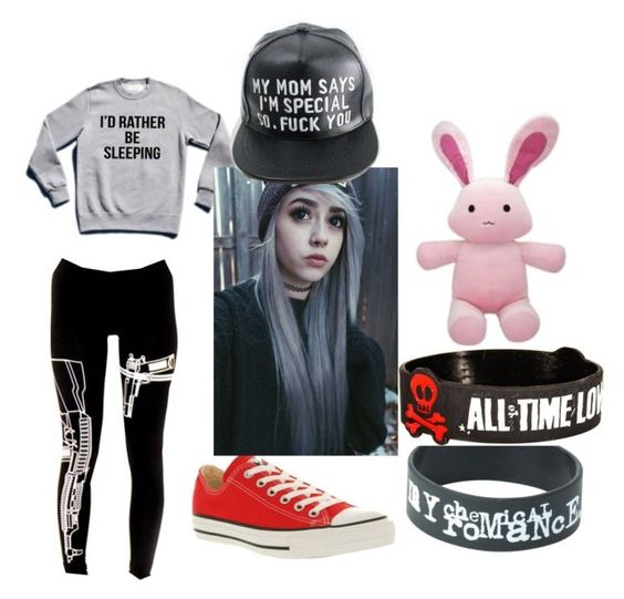 """""""Untitled #50"""" by marclinependragon ❤ liked on Polyvore featuring Converse"""