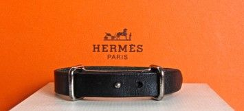 Hermes Black Leather Bracelet with Palladium Hardware. Get the lowest price on Hermes Black Leather Bracelet with Palladium Hardware and other fabulous designer clothing and accessories! Shop Tradesy now