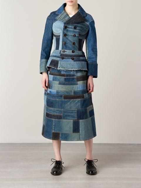 Junya Watanabe Comme Des Garçons patchwork denim jacket: