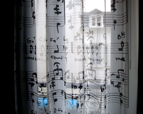 Musical curtains in the music room