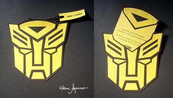 Convite :: Tema Transformers