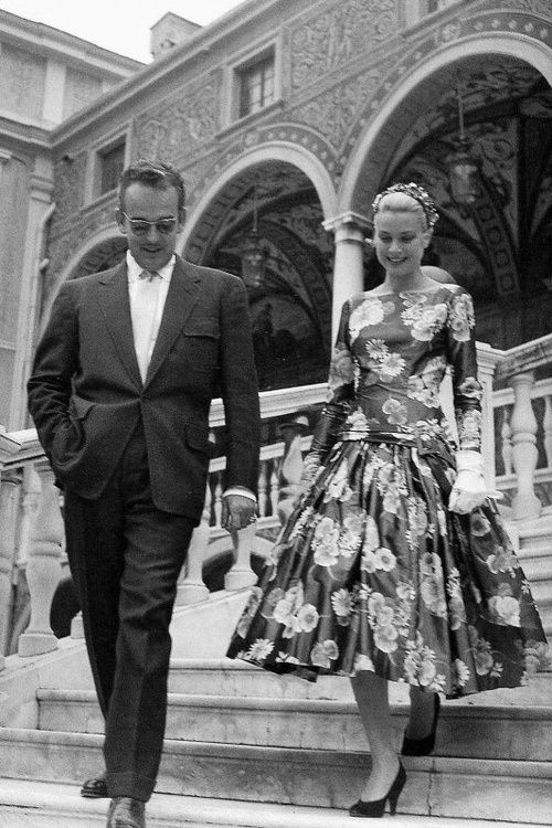 Grace Kelly and husband Prince Ranier | More Grace Kelly lusciousness here: http://mylusciouslife.com/photo-galleries/entertainment-books-movies-tv-music-arts-and-culture/