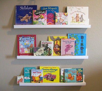 DIY book display shelves