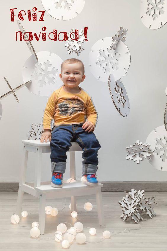 Copos de nieve de #carton para decoracion #navideña