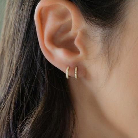 Small Dainty Minimalist Geometric Your Choice 925 Sterling Silver or 14K Gold Hooks Simple Tiny Black Circle Earrings