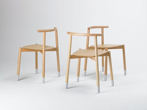 Stick Chair from Valsecchi;  a very Hans-Wegner-CH20 concept but beautifully executed.