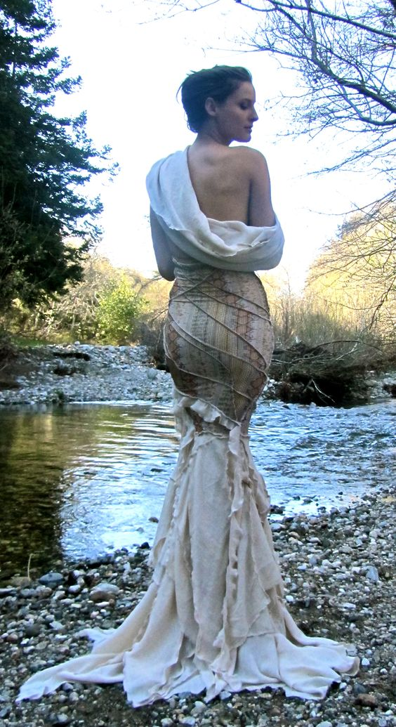 One-of-a-kind dress 'Mermaid Tree' designed by Lily Blue and Modeled by Marcia