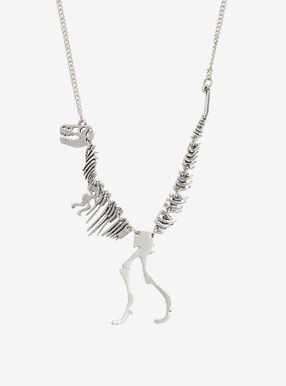 Jurassic Park T Rex Skeleton Necklace Skeleton Necklace Aries Necklace Jurassic Park T Rex
