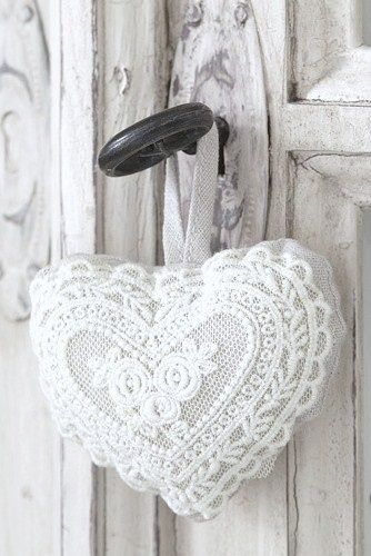 be still my heart in a white lace sachet photo by ana. Black Bedroom Furniture Sets. Home Design Ideas