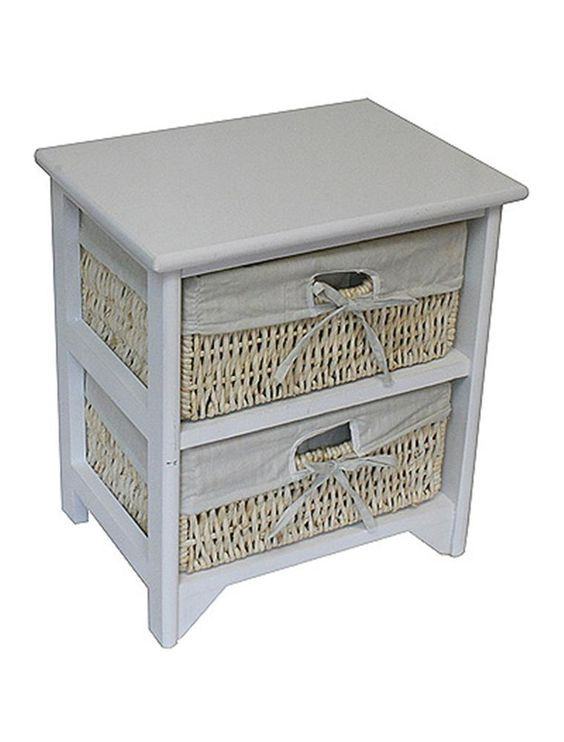 Details About Unit 2 3 Or 4 Maize Drawers Basket White Wood Storage Container Bathroom By Jvl