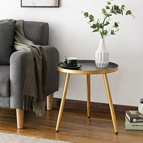 New Round Side Table Metal End Table Nightstand Small Tables For Living Room Accent Tables Table Decor Living Room Side Table Decor Living Room Side Table Small occasional tables living room