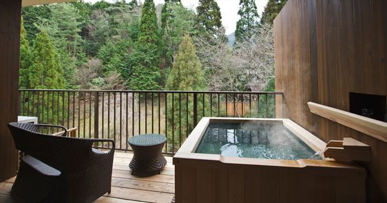 Japanese-style room twin with open-air bath | Yunohana Onsen, Kameoka-shi, Kyoto | Japanese Auberge Suisen | Official HP Best Rate