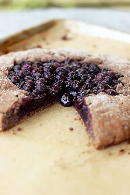 Blueberry Rosemary Multi-grain Galette (Gluten Free & Vegan)