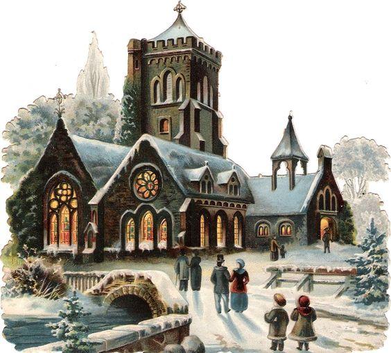 Oblaten Glanzbild scrap diecut chromo Kirche 15cm winter church Schnee snow in Sammeln & Seltenes, Büro, Papier & Schreiben, Papier & Dokumente | eBay: