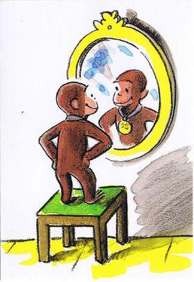 猿キャラクターおサルのジョージ