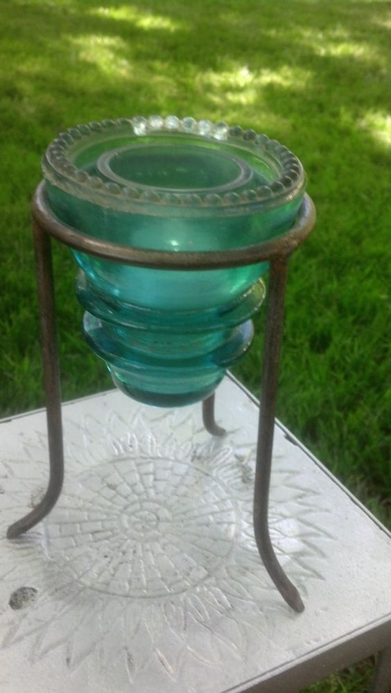 Glass insulator as candle holder ascot pinterest for Glass insulators crafts