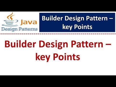 Builder Design Pattern Keypoints Youtube In 2020 Prototype