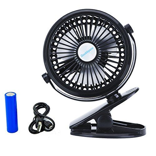 Clip Fan Mini Desk Fan Battery Operated Small Personal Fan