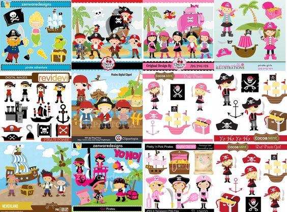Kit Scrapbook Digital Piratas <br> <br>Super Pacotão com 44 Kits Digitais. <br>Todos os kits em alta resolução (300 bpi). <br>