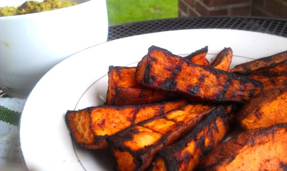 Grilled Chili-Lime Sweet Potato Wedges - Paleo < I do love grilling #UltimateTailgate #Fanatics