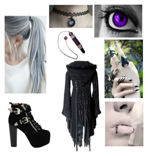 """Dark Crystal Queen"" by bvb-army-girl-16 ❤ liked on Polyvore featuring Jeffrey Campbell, women's clothing, women, female, woman, misses and juniors"