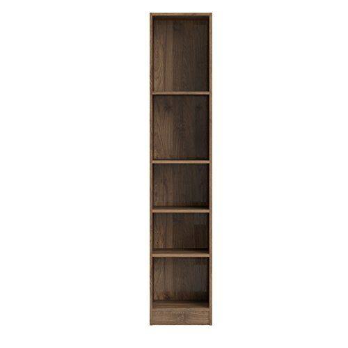 Tvilum 71775dj Element 5 Shelf Narrow Bookcase Walnut 44 Pounds