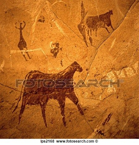 26 Neolithic Rock Painting Of Cattle In Ennedi Massif Sahara Desert Chad Africa View Large Photo Image