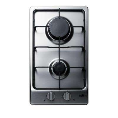 12 In Gas Cooktop In Stainless Steel With 2 Burners Gas Cooktop Cooktop Outdoor Kitchen Appliances