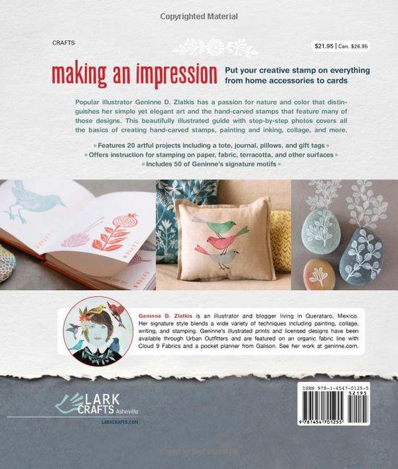 Making an Impression: Designing & Creating Artful Stamps: Amazon.co.uk: Geninne D. Zlatkis: Books