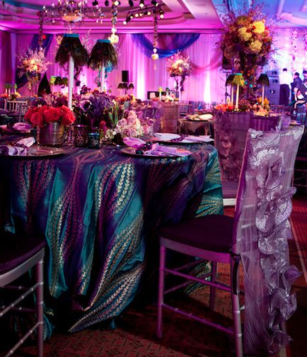 David Tutera Weddings Ideas: David Tutera Peacock Theme - Tablecloth!!!