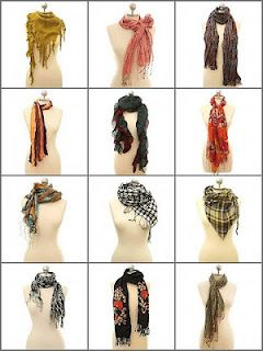 Using scarves is a great way to dress up an outfit without spending a fortune!